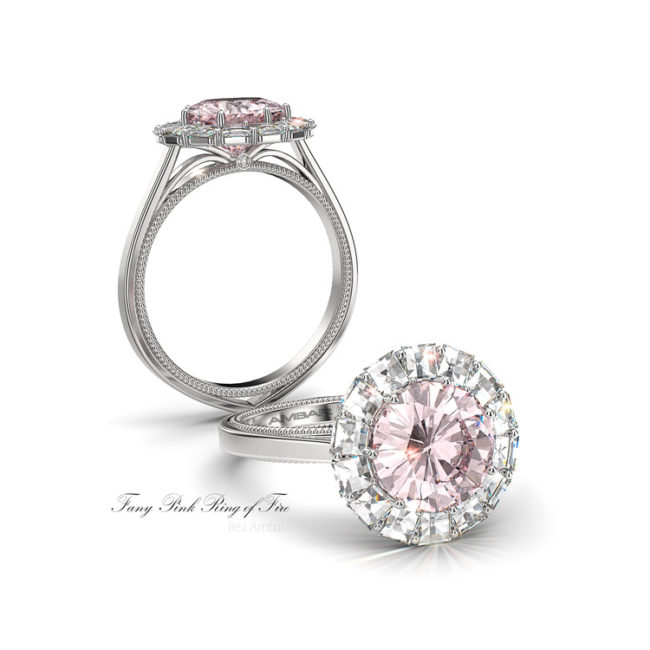 Fancy-pink-diamond-Engagement-Ring-of fire-bez ambar