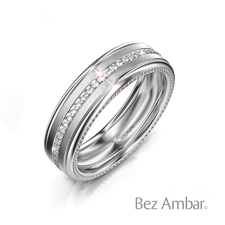 Men-White-Gold---Wedding--Band--with-Blaze-Diamonds--and-Beads--Detail--Bez-Ambar--Devotion