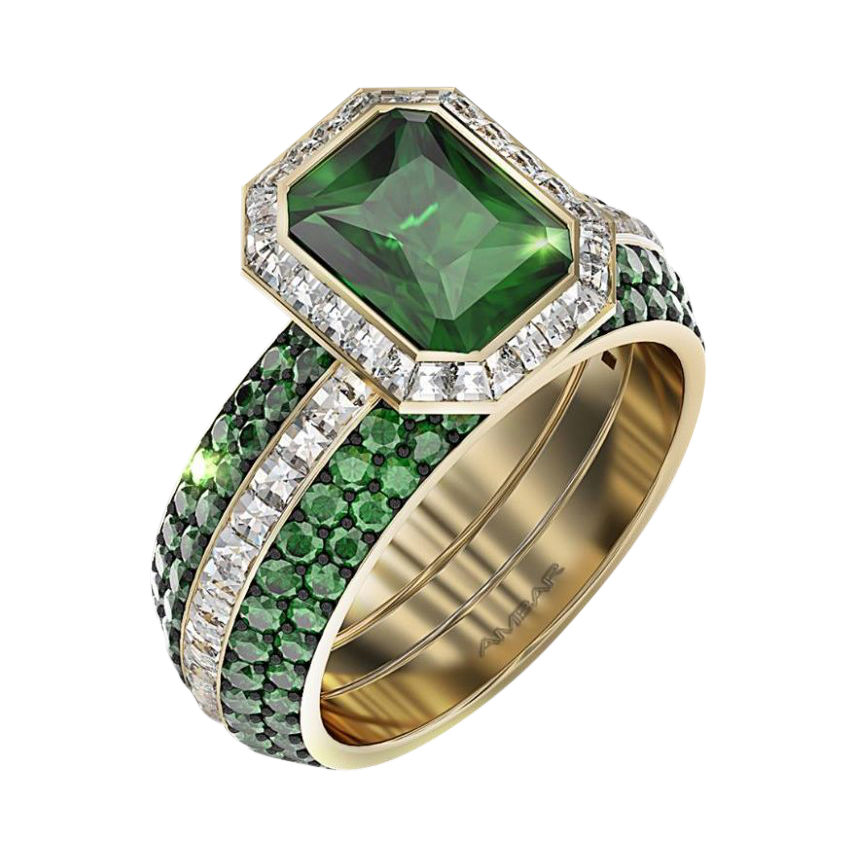 willow accents white ring brilliant rings earth emeralds emerald lab gold green engagement with round
