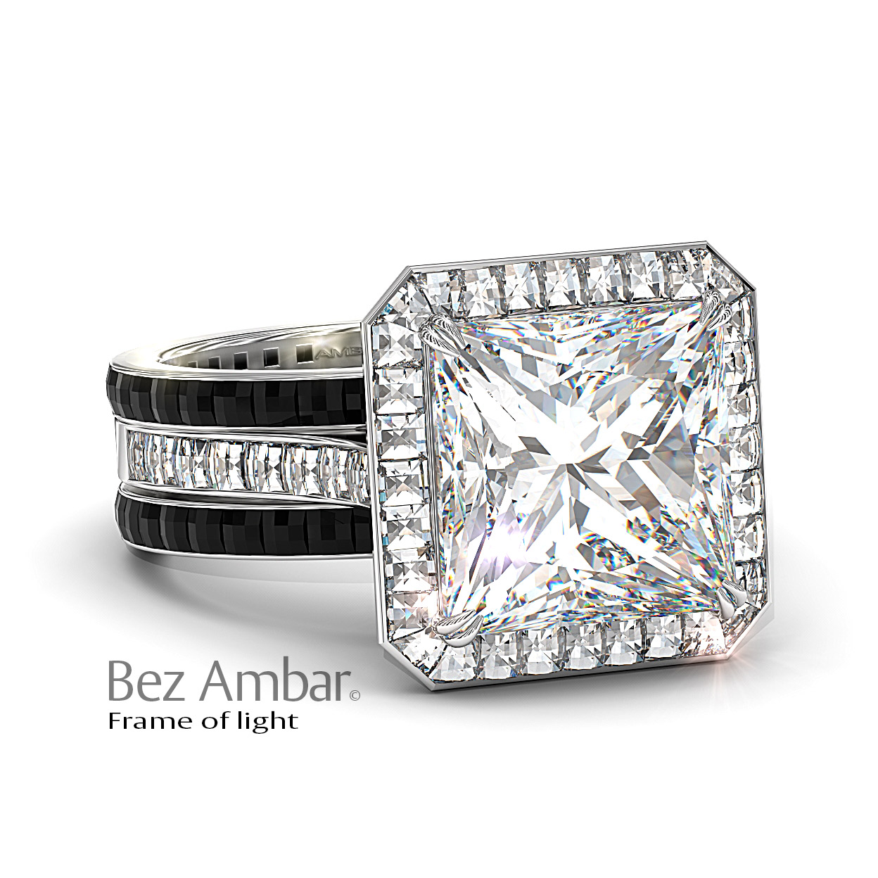 frame of light 10 carat diamond ring