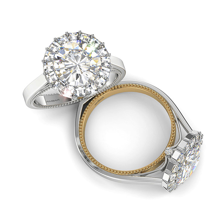 """Ring of Fire"" diamond engagement ring"