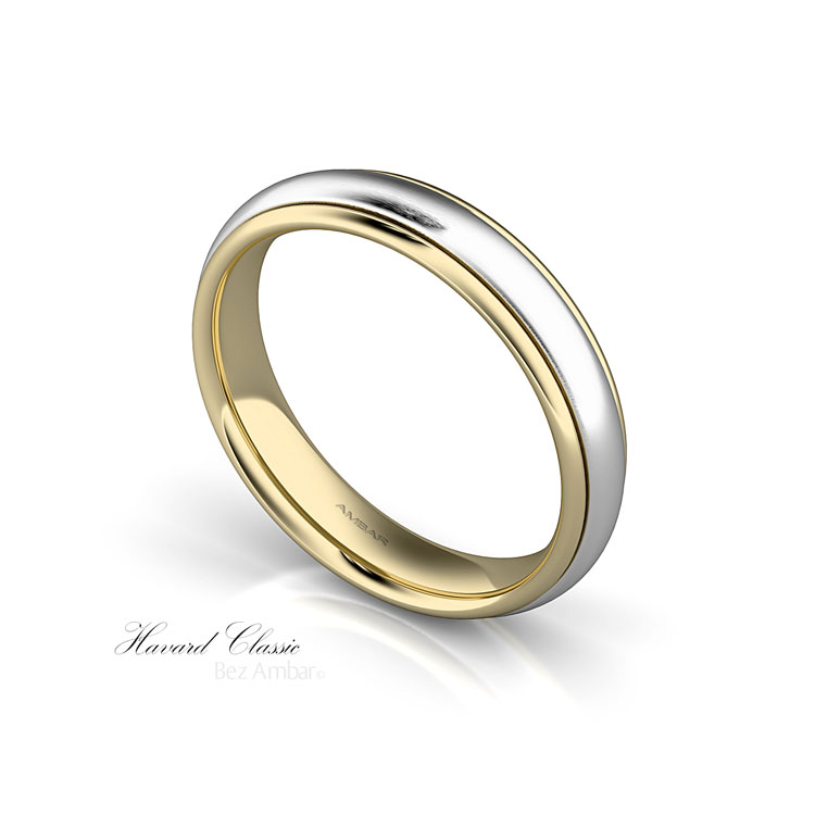 White and Yellow Gold Wedding Ring For Men