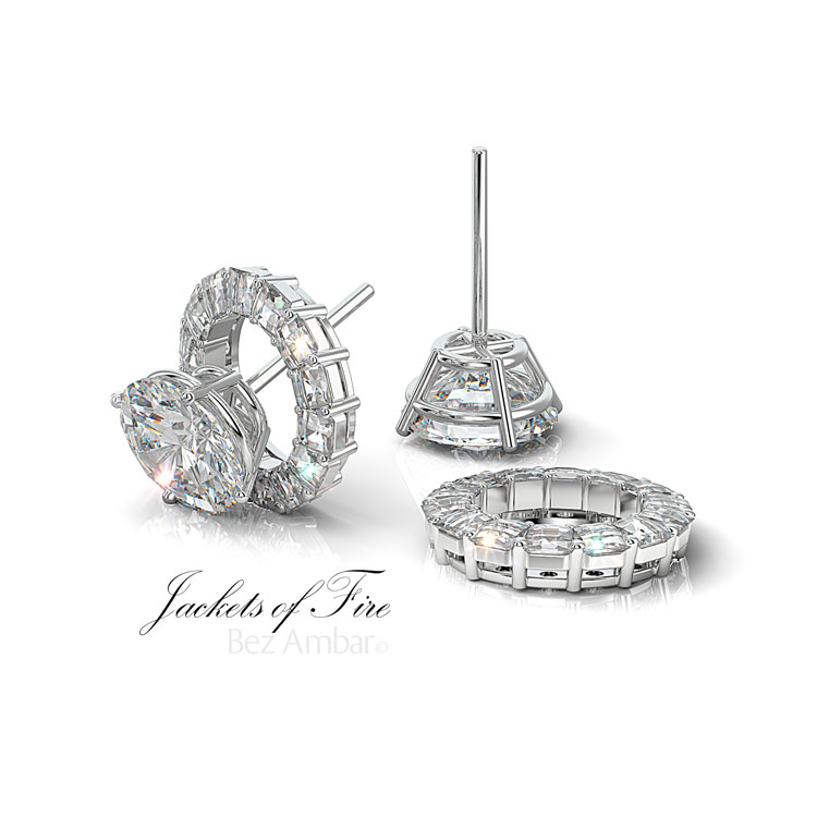 diamond earrings studs four prong