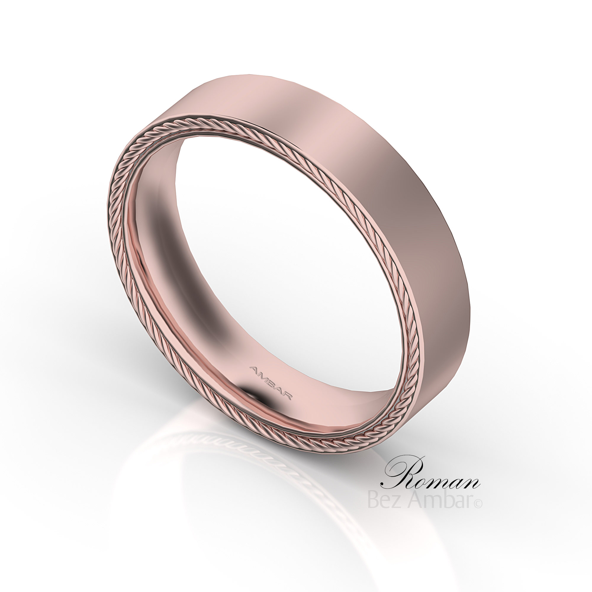 classic court rings real wedding rose gold ring