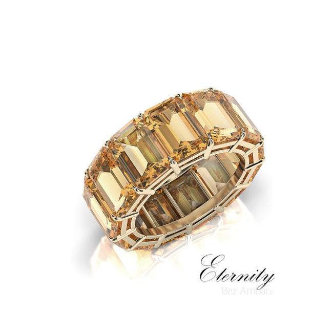 citrine gemstone eternity ring